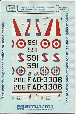 Microscale Superscale 48-184 Lockheed T-33 Shooting Star decals in 1:48 Scale