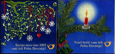 SLOVENIA Sc.# 577A, 579A Christmas 2004/New Year 2005 Stamp Booklets
