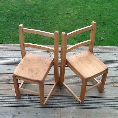 Two Old Childs Chairs Oak