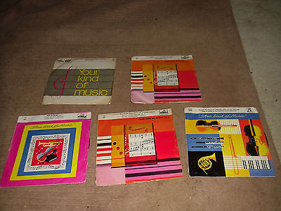 """Collection of 5 Your Kind of Music 7"""" vinyl Classical Bjorling Gigli Schwarzkopf"""