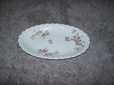 Limoges France Small Pink Flowers Dish