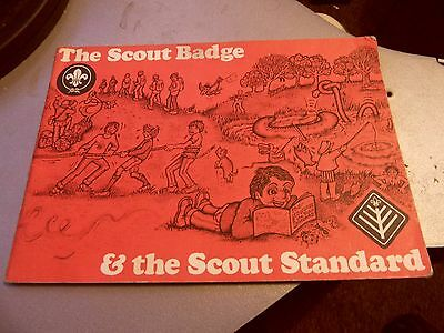 SCOUTS,The Scout Badge & The Scout Standard SMALL PAPERBACK BOOK