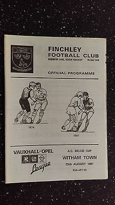 Finchley V Witham Town 1987-88