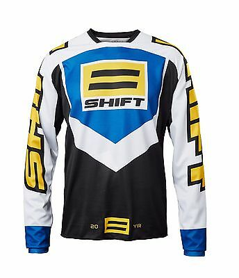 SHIFT MX 2017 WHIT3 Label 20th Anniversary MX Throwback Jersey Black Size LARGE