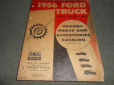 1956 Ford Truck Original Illustrated Chassis Parts Catalog 56 Manual F-100 - 600