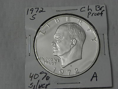 1972 S  Proof  40 %  Silver Ike Dollar  C