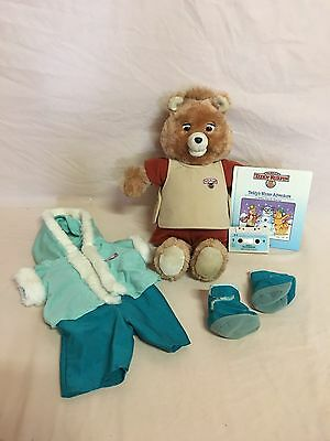 Vintage Teddy Ruxpin 1st Generation Lot With Winter Adventure Book/tape~works