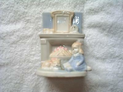 "Little girl by fireplace  approx..  5  1/2"" -  excellent condition"
