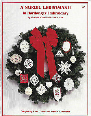 A Nordic Christmas II in Hardanger Embroidery - Pattern Book