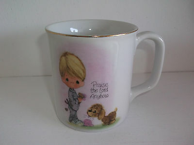 1978 Precious Moments PRAISE THE LORD ANYHOW Cup Mug