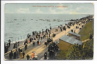 Old postcard, Lincs: 'View from Ross Castle, Cleethorpes'. Posted 1907.