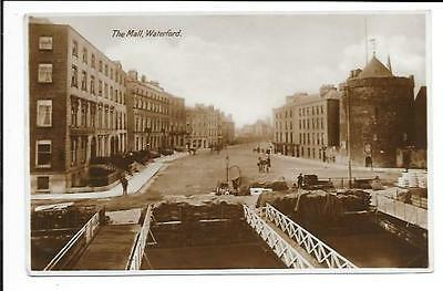 Old postcard, Ireland: 'The Mall, Waterford'. Posted 1929. 'Real photo'.