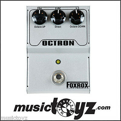 Foxrox Octron Octave Guitar Effects Pedal - NEW/Auth - Free Ship and Gift