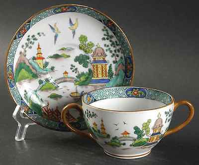 Crown Staffordshire YE OLDE WILLOW Bouillon Cup & Saucer 1920698