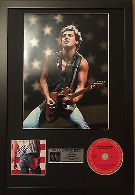 *signed*  Bruce Springsteen - Born In The Usa - 24X16 Framed Autographed Cd