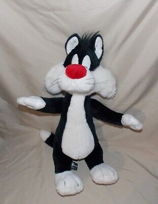"""Warner Brothers Sylvester Tom Cat Plush Poseable stuffed plush 18"""" stands"""