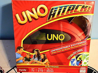 UNO Attack! Electronic Rapid Fire Family Card Game Mattel New With BOX