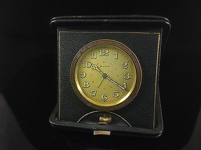 Swiss 8 day travel clock in case, F. Cornioley , Parts Or Repair