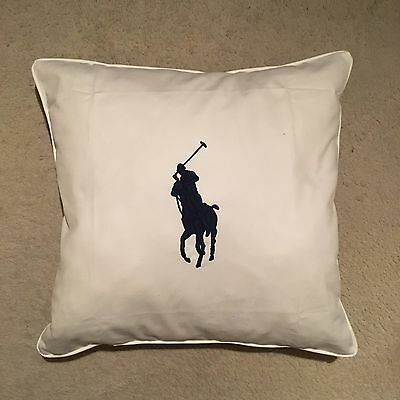 Ralph Lauren Home Big Pony Knitted Cushion Cover White Size 50x50cm RRP: £109.00