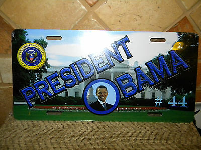 President Obama #44 Metal License Plate Tag Ready To Hang