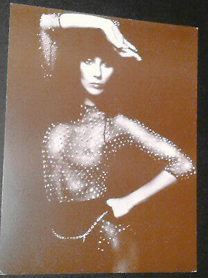 11x14 Vintage Sepia Photo Card~ Actress-Singer CHER ~Semi-nude outfit