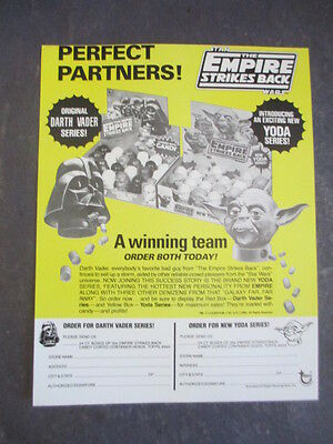 Vtg 1980 Topps Star Wars Empire Strikes Back Candy Containers Selling Sell Sheet