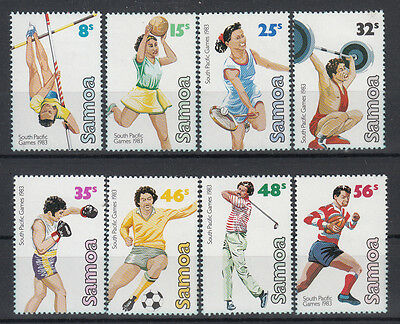 Samoa 1983 South Pacific Games set of 8 stamps. Sg 639-646. MUH/MNH.Going cheap