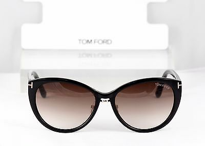 NEW TOM FORD  Sunglasses Black FT0345 01B Gina Retail $300+ Authentic w/ Case