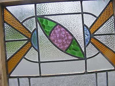 >> Large  Antique  Stained Glass Window , no cracks found , Good condition