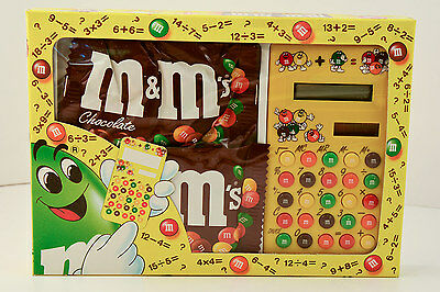 Vintage 1993 M&M Character * SOLAR CALCULATOR * European MINT in SEALED BOX/ NIB