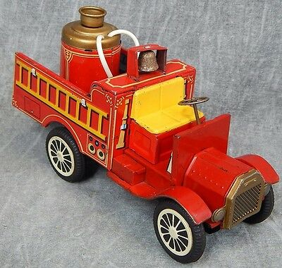 Made in Japan Vintage Friction Fire Department pumper truck