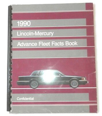 1990 Lincoln And Mercury Advance Fleet Facts Dealer Book All Models