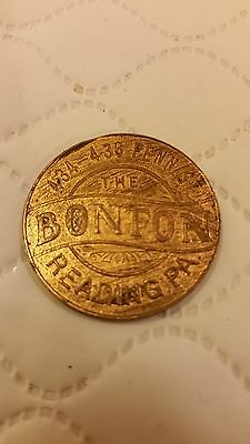 Vintage Trade Advertising Token BONTON MILLINERY Reading, PA.