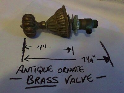 Grandpas Old Antique Plumbing Bathtub Valve Brass Ornate Rare 19th Century