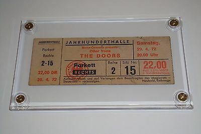 THE DOORS VINTAGE CONCERT TICKET STUB Jahrhunderthalle convention center Germany
