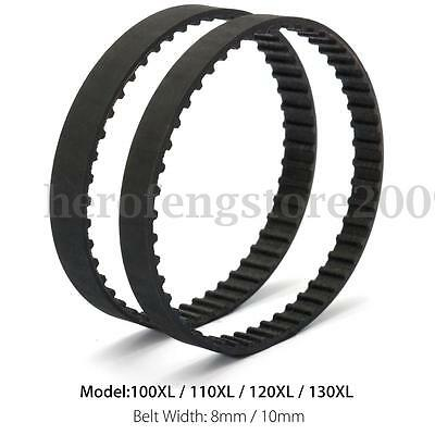 XL Series Black Timing Rubber Drive Belt Cogged Teeth 8mm/10mm Width 1/5'' Pitch