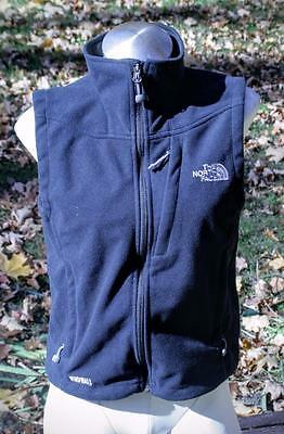 The North Face Womens Size Small S Fleece Vest Black Windwall Euc