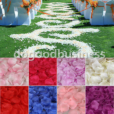 600pcs Silk Rose Flower Petals Leaves Wedding Party Table Confetti Decoration