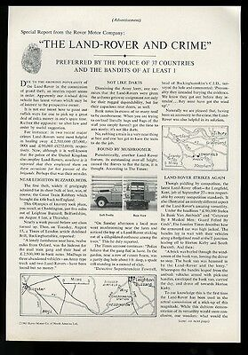 1964 Land Rover photo Preferred by Police of 37 Countries vintage print ad