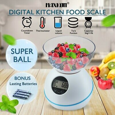 5kg/1g Digital Kitchen Scales Electronic Food Bowl Weight Scale Multifunction