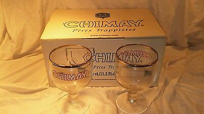 Set of 6 New 150th Anniversary Chimay Belgian Ale Chalice/Goblet Beer Glass