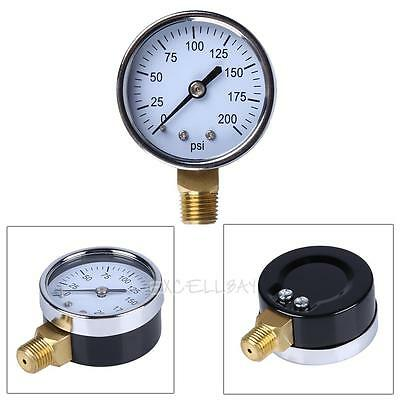 "1/4"" NPT Side Mount 2""Face 200PSI Air Compressor Hydraulic Pressure Gauge"