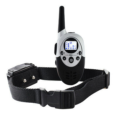 Waterproof 1000M LCD Electric Remote Pet Dog Training Shock Collar Rechargeable
