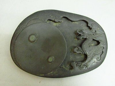 Chinese Duan Stone Carved Dragon Ink Slab / Ink Stone