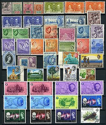 Seychelles small collection Queen Victoria to Queen Elizabeth II good used/mint