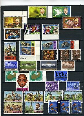 Zambia small collection mid to late 1900's used/unmounted mint