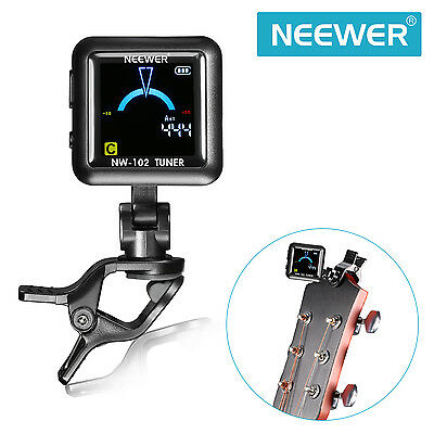 Neewer NW-102 Rechargeable Color Screen Clip-on Tuner for Guitar Bass Violin