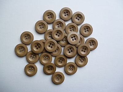 30 Beige 4 hole new buttons