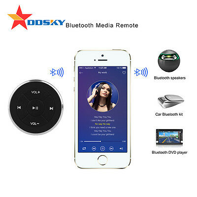 Car Bluetooth Media Audio Music Steering Wheel Remote Control Button for iPhone7