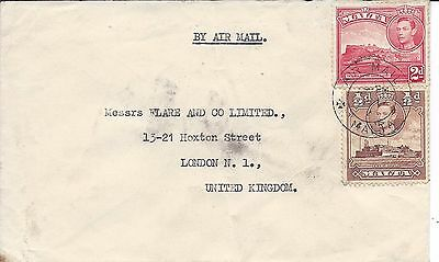 Malta  air mail cover to uk